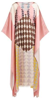 Self-Portrait Self Portrait Geometric Print Satin Kaftan - Womens - Multi