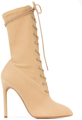 Season 4 lace-up stiletto boots