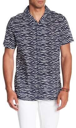 Onia Short Sleeve Print Regular Fit Woven Shirt