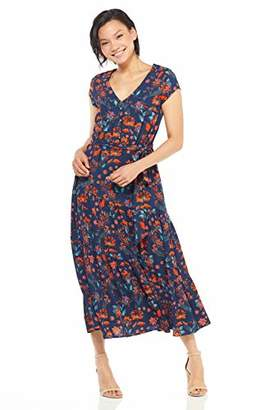 Maggy London Women's Petite Floral Novelty Tiered fit Flare