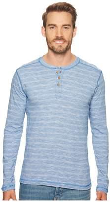 Vintage 1946 Long Sleeve Slub Knit Henley Men's Long Sleeve Pullover