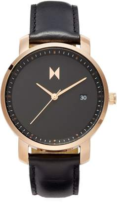MVMT Leather Strap Watch, 38mm
