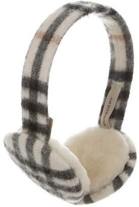 Burberry Cashmere Nova Check Earmuffs