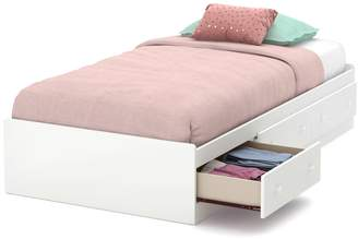 South Shore Furniture 39-Inch Little Smileys Mates Bed with 3 Drawers