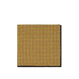 Eleventy Men's Dotted Wool-Cotton Pocket Square - Yellow