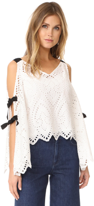 Nanette Lepore Hook Like Sinker Top $398 thestylecure.com