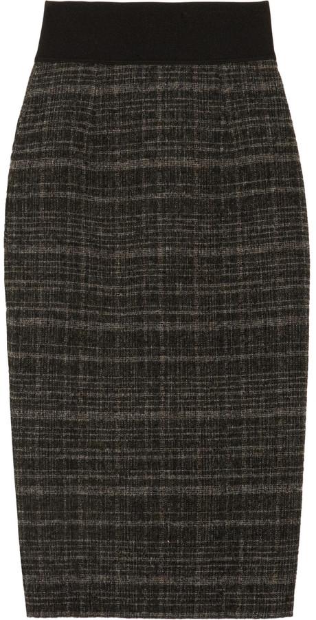 Marc Jacobs Wool-blend tweed pencil skirt