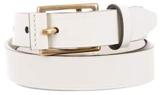 Gucci Gold-Tone Leather Belt w/ Tags
