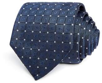 HUGO Square Micro Diamond Neat Silk Skinny Tie