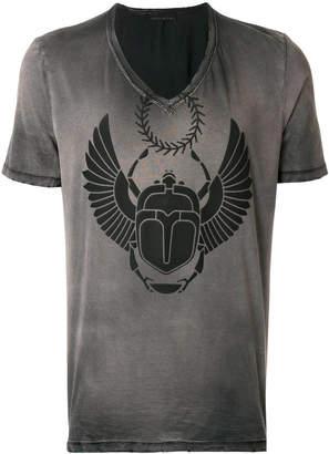 Frankie Morello distressed print V-neck T-shirt