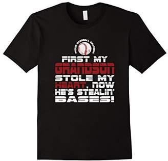 Baseball Grandson T-shirt for Baseball Grandma