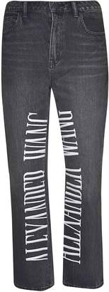 Alexander Wang Logo Embroidered Jeans