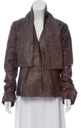 MM6 MAISON MARGIELA Leather Hooded Jacket