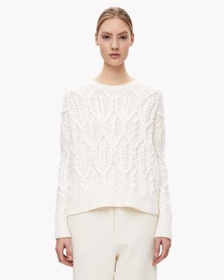 Cable Knit Slouchy Pullover $395 thestylecure.com