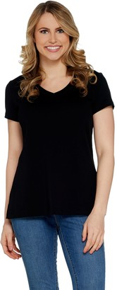 Isaac Mizrahi Live! Essentials Pima Cotton V-Neck T-Shirt