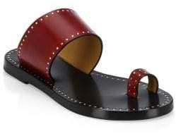Isabel Marant Jeppya Studded Toe Ring Slides