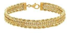 Lord & Taylor 14K Yellow Gold Chain Bracelet