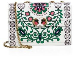 Tory Burch Gemini Link Printed Leather Chain Shoulder Bag $625 thestylecure.com