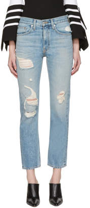 Brock Collection Blue Distressed Wright Jeans