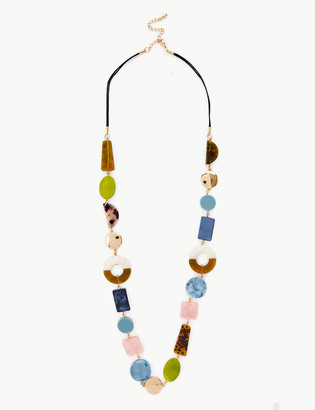 Marks and Spencer Mixed Stone Skin Kind Long Rope Necklace