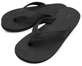 Volcom Men's Fathom Synthetic Leather Flip Flop Sandal