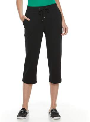 Croft & Barrow Women's Drawstring Capri Pants
