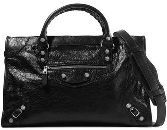 Balenciaga - Giant 12 City Textured-leather Tote - Black $1,985 thestylecure.com