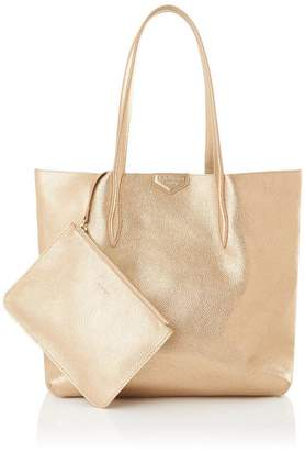 LK Bennett Peggy Gold Italian Leather Tote Bag