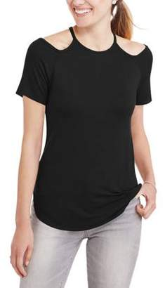 Miss Sportswear Women's Short-Sleeve Crewneck T-Shirt With Cutout Detail