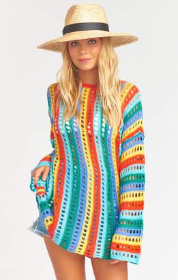 Show Me Your Mumu Cruz Sweater ~ Rainbow Tropic Knit