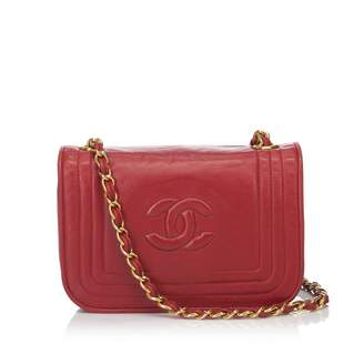 Chanel Vintage Burgundy Leather Handbag