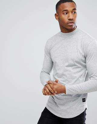 ONLY & SONS Longline Long Sleeve T-Shirt with High Neck Detail