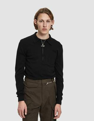 Cmmn Swdn Curtis Zip Polo Sweater
