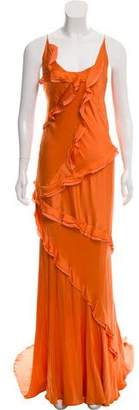 Nina Ricci Silk Sleeveless Evening Dress
