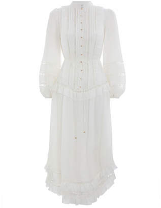 Zimmermann Whitewave Pin Tuck Dress