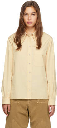 Lemaire Yellow Pointed Collar Shirt