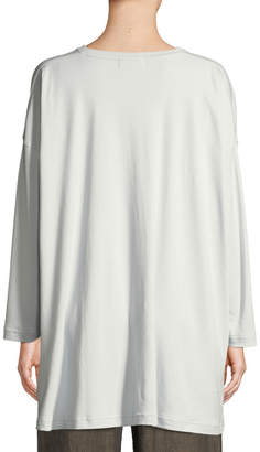 eskandar Long-Sleeve Round-Neck Pima Cotton T-Shirt