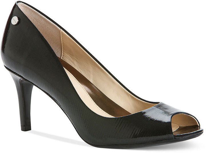 Calvin Klein Women's Shoes, Kasia Mid Heel Pumps