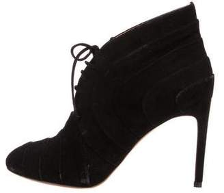 Alaia Suede Pointed-Toe Ankle Boots