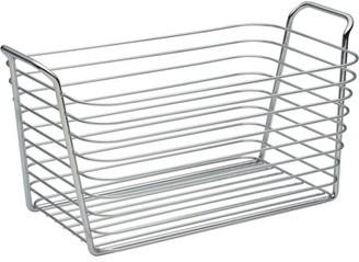 InterDesign Classico Kitchen Pantry Bath Medium Organizer Wire Basket, Chrome