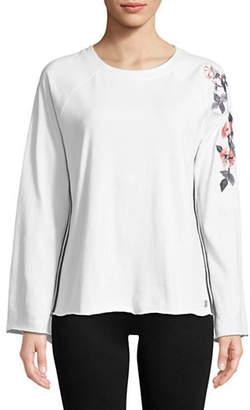 Calvin Klein Embroidered Raglan-Sleeve Top