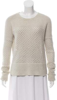 Theory Open Knit Scoop Neck Sweater