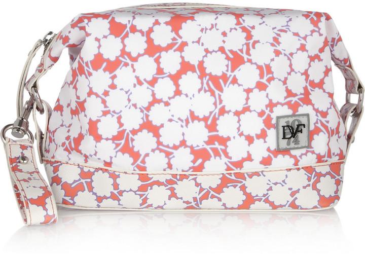 Diane von Furstenberg Printed PVC-trimmed cosmetics case