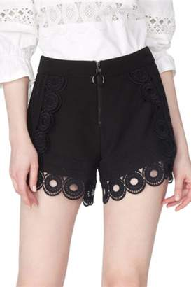 Gracia Black Eyelet Shorts