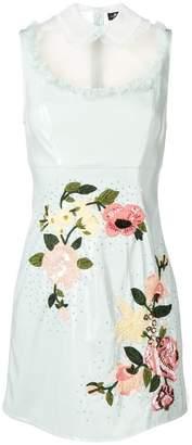 Elisabetta Franchi floral appliqué dress