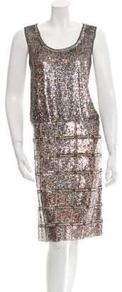 Derek Lam Sequined Knee-Length Dress