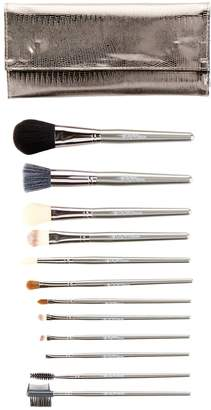 Crown Brush 12-Piece Professional Brush Set - Gunmetal