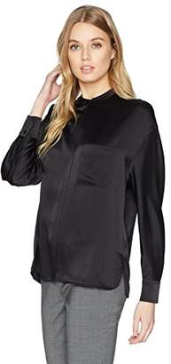 Vince Women's Single Pocket Blouse,XS