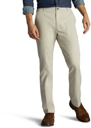 Lee Men's Performance Series Extreme Comfort Khaki Relaxed-Fit Flat-Front Pants