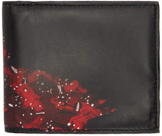 Marcelo Burlon County of Milan Black and Red Wing Wallet